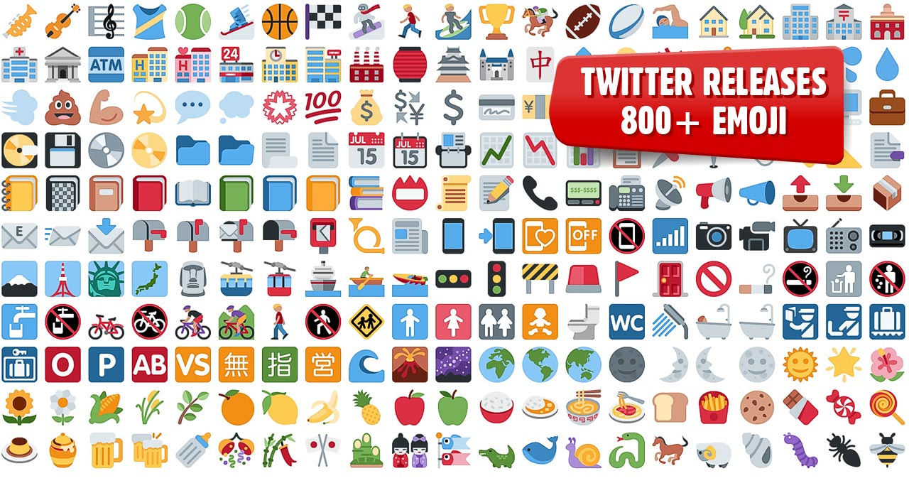 Emoji: Twitter Open Sources 872 Graphics For You To Use In Your ...