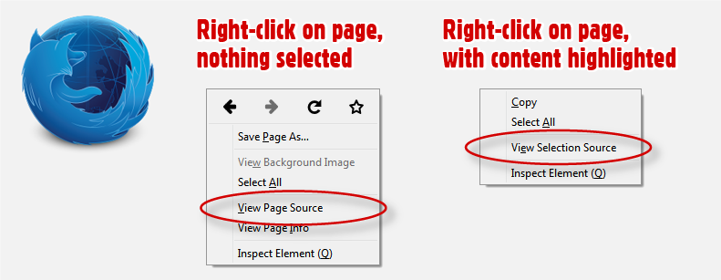 View Source vs. View Generated Source